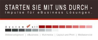 Logo der Firma System4all GmbH – Full-Service Webagentur für Software- & Web-Development