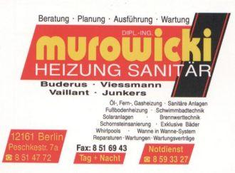 Firma Berlin Rohrreinigung Abflussreinigung Notdienst Rohrverstopfung Dipl.-Ing. Murowicki Versorgungstechnik Notdienst Service aus Berlin