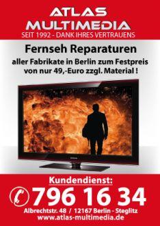 Logo der Firma Fernsehreparatur in Berlin nur 49 Euro Material.
