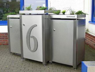 Logo der Firma Modulares-Mülltonnen-Verkleidungs-System aus Edelstahl