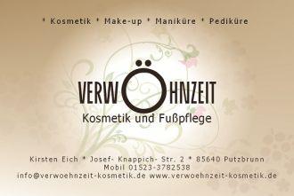 Firma * Verwöhnzeit-  Kosmetik und Fußpflege. * auch mobil aus Muenchen