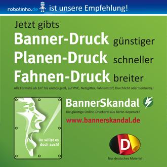 Logo der Firma BannerSkandal.de | Bannerdruck Planendruck günstig erstellen lassen