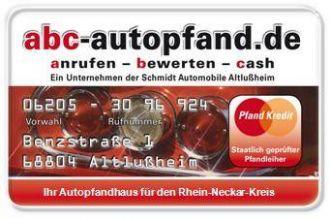 Firma abc-autopfand - Ihr Autopfandhaus in Baden-Württemberg - nähe Mannheim - aus Mannheim
