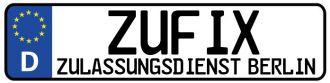 Firma ZUFIX Kfz Zulassungsdienst Berlin Kreuzberg aus Aachen